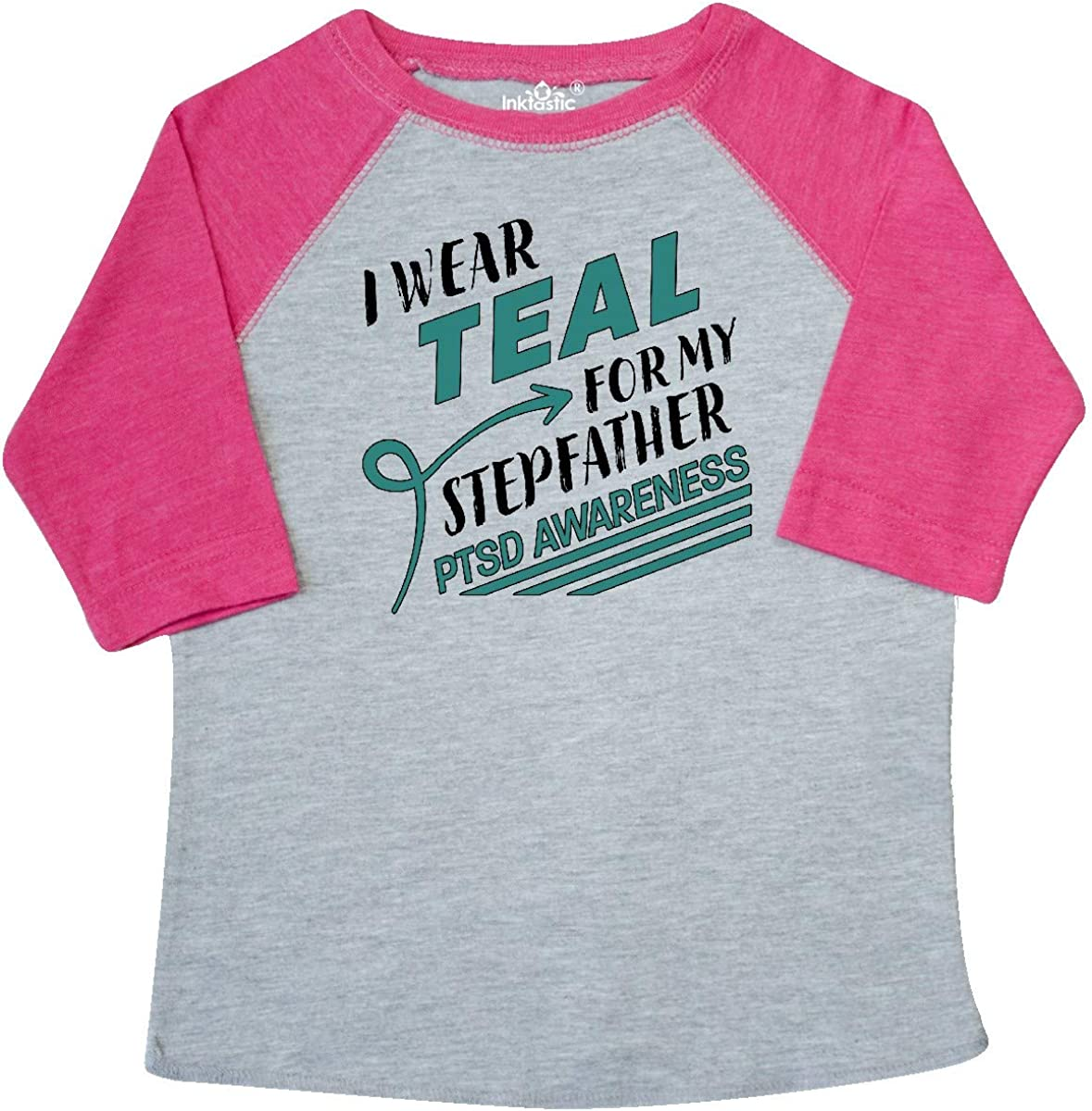 PTSD Awareness Toddler T-Shirt inktastic I Wear Teal for My Stepfather