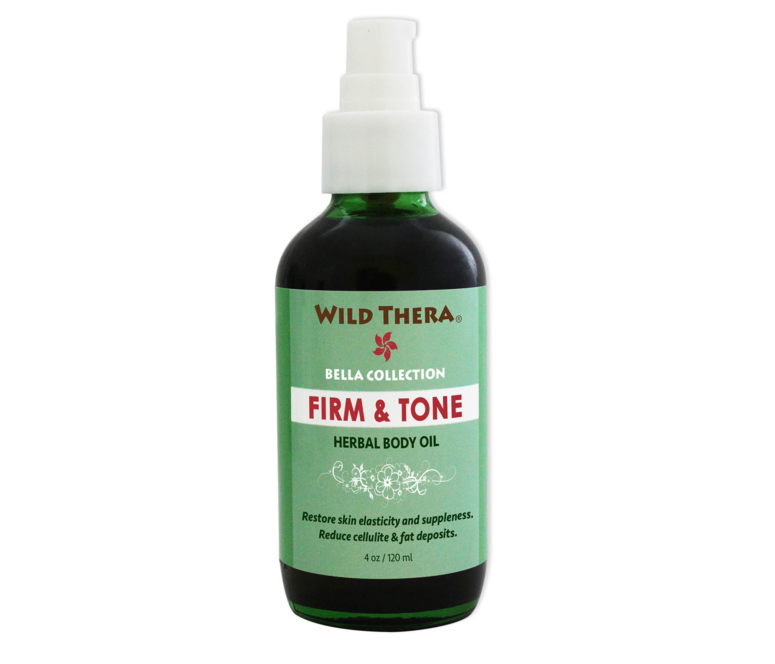 Wild Thera Herbal Skin Firm & Tone Organic Natural Anti Cellulite treatment to remove unwanted body fat, fatty deposits and tighten sagging flabby skin. Penetrate skin for weight loss and slim waist. by Wild Thera