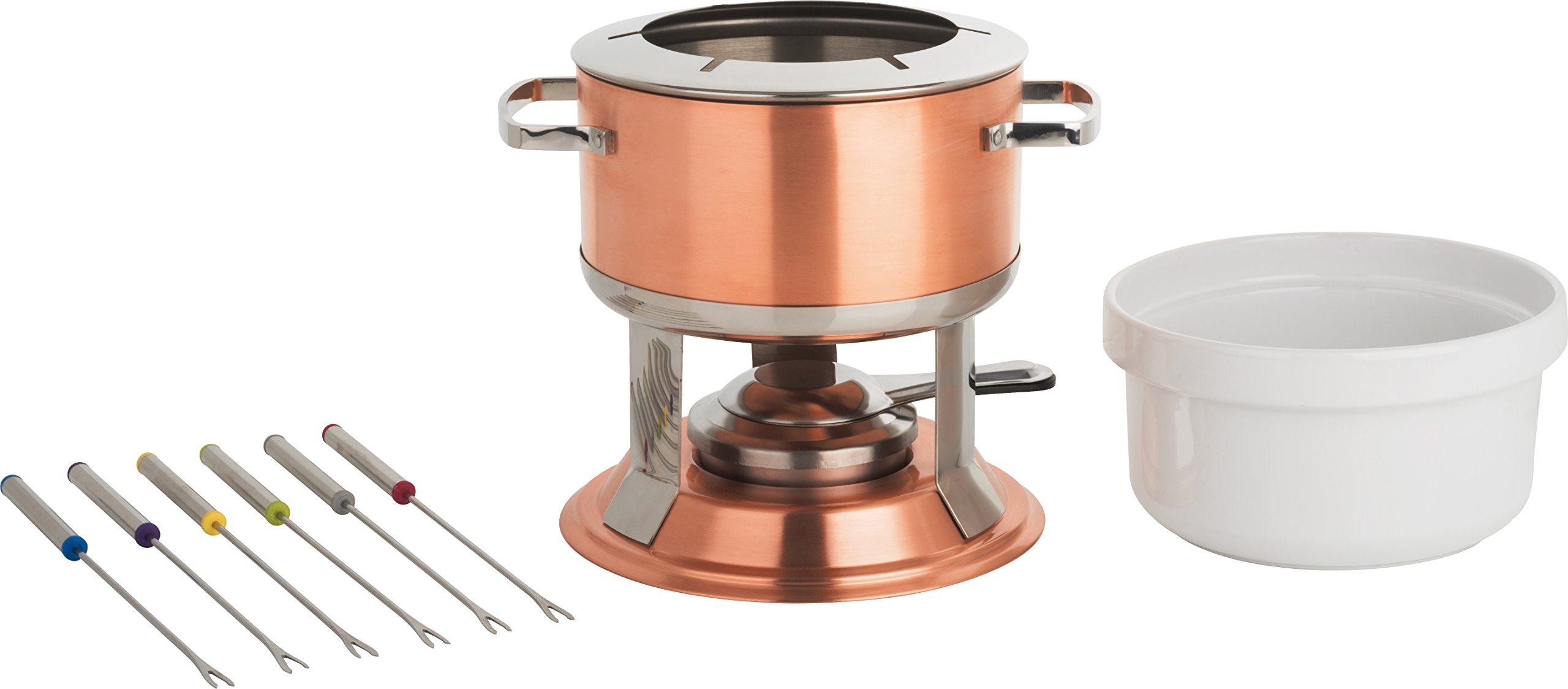 Trudeau Lumina 3-in-1 Fondue Set, 67 oz, Copper by Trudeau