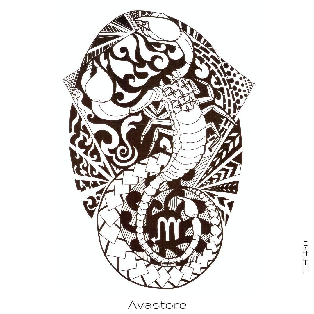 Tatuaje temporal Mori Scorpion tatuaje temporal, tatuaje efímero ...