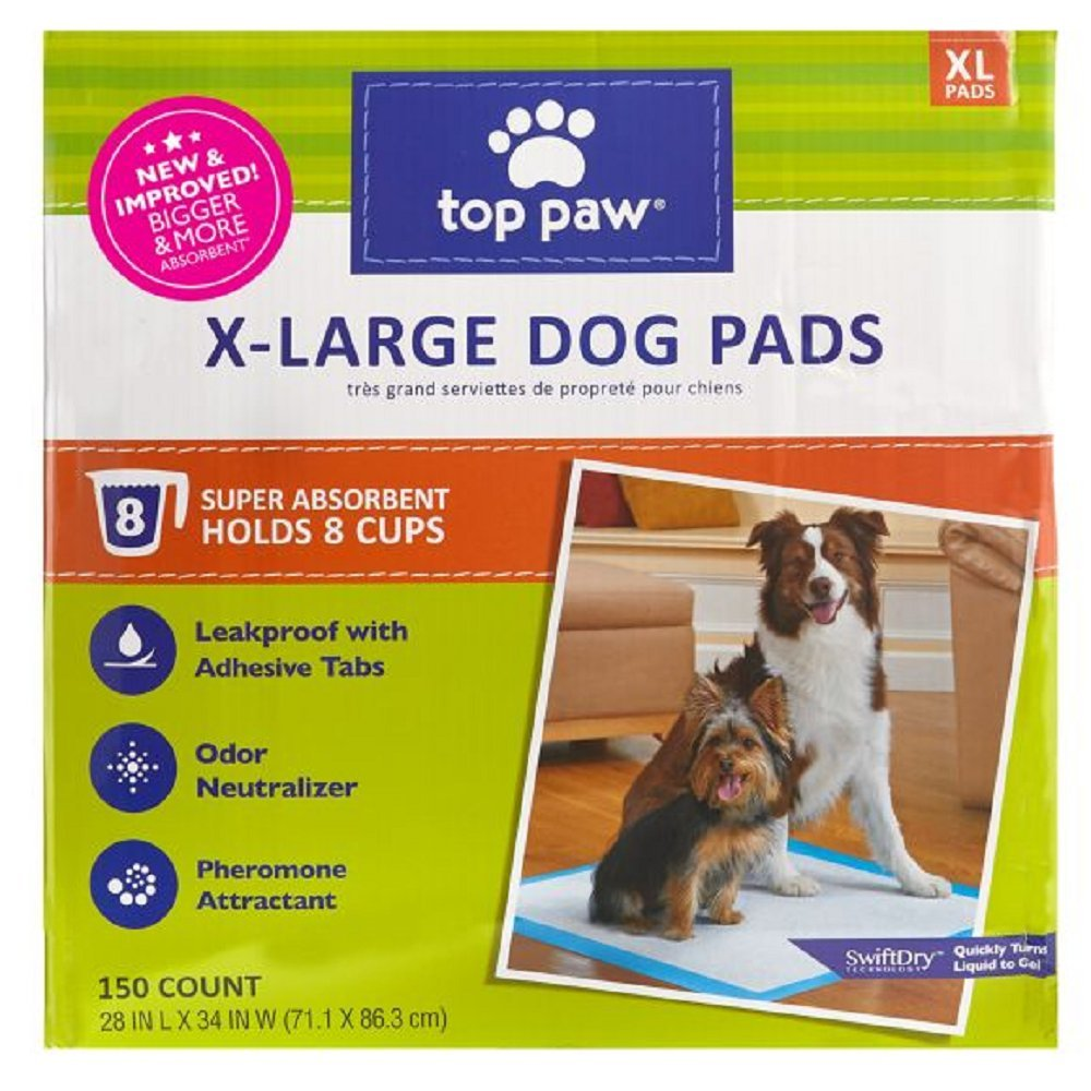 New and Improved Top Paw X-Large Dog Pads (150 count) by *Top Paw
