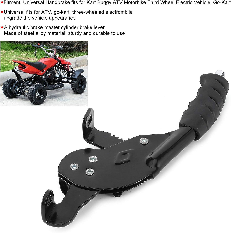 Ladieshow Universal Handle Front Brake Lever Handbrake Steel Alloy Handbrake Fit for Kart Buggy ATV Motorbike Third Wheel Electric Vehicle
