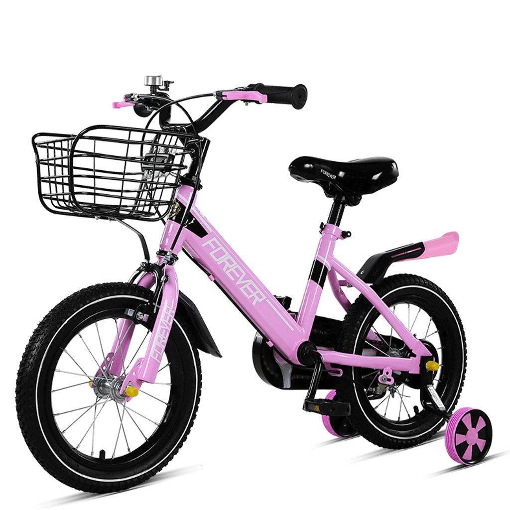 DGF 子供の自転車3-10歳の赤ちゃんのバイク男の子と女の子の生徒の子供のベビーカー (色 : Pink, サイズ さいず : 14 inches) B07F3TVZH2 14 inches|Pink Pink 14 inches