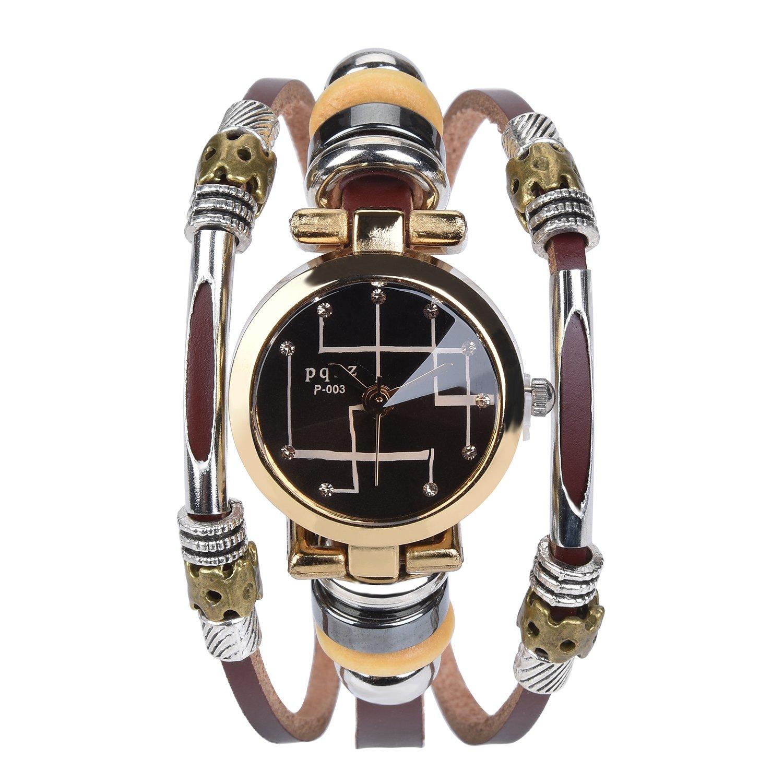 Women and Girl Belt Bracelet Watch Female Watch fashion Watch Bracelet Watch with Leather Band