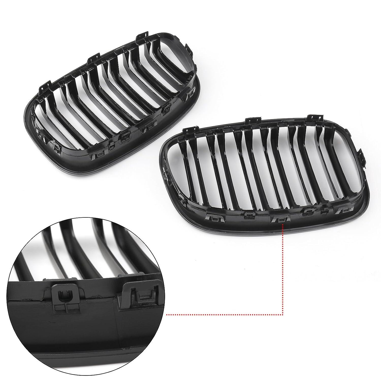 Areyourshop Lot de 2 grilles de protection pour pare-chocs avant en ABS pour mod/èles 1Series F20 116i 118i 2012-2014