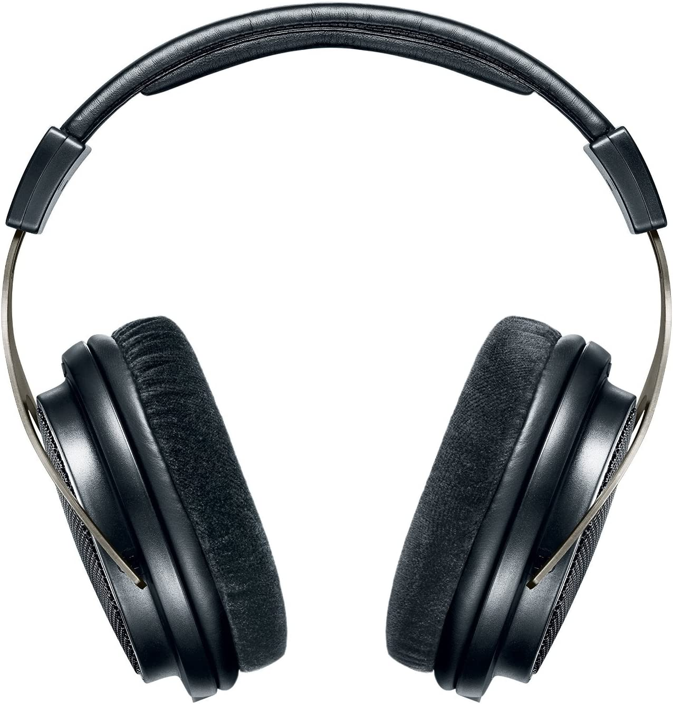 Shure Srh1840 Offener Kopfhörer Over Ear High End Geräuschunterdrückend Kabel Austauschbar Velourpolster Natürlicher Klang Erweiterte Höhen Akkurater Bass Gematchte Wandler Schwarz Silber Musikinstrumente