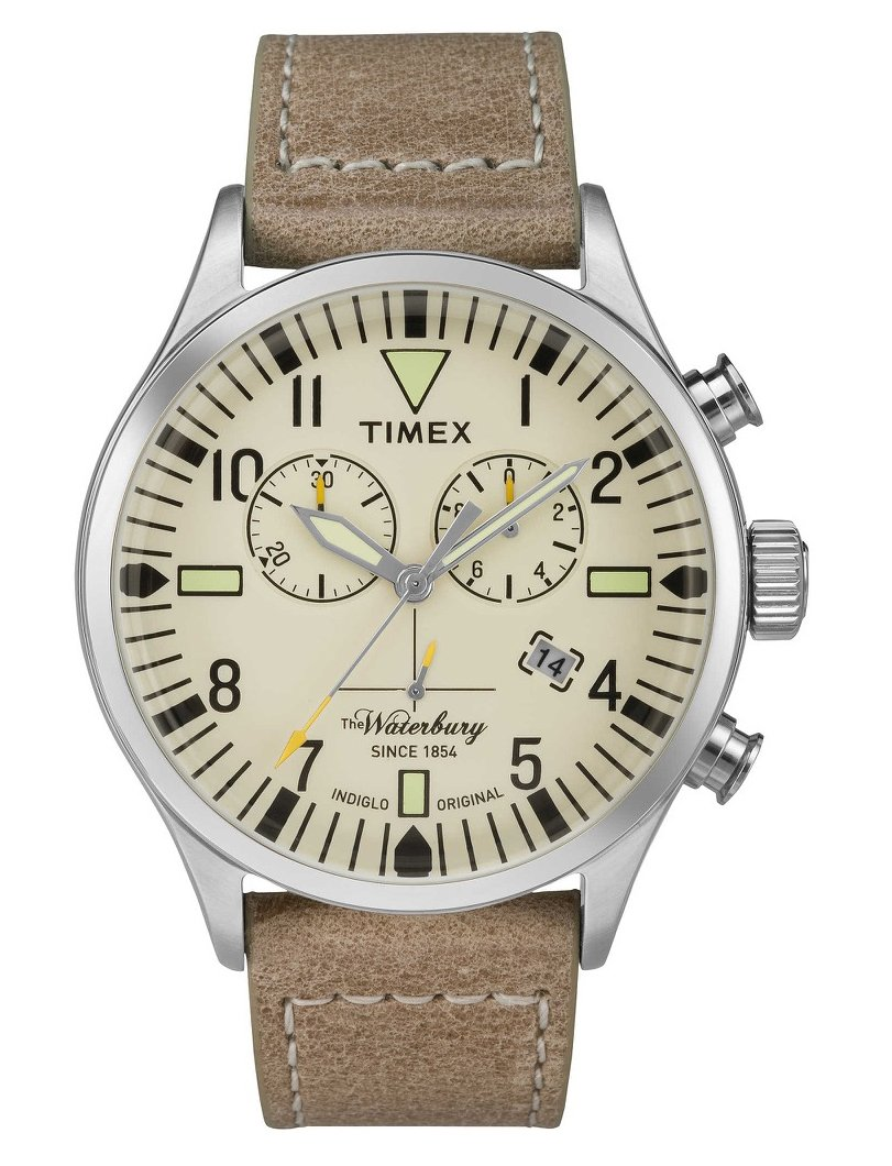 TIMEX Brown Leather Watch-TW2P84200