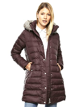 f5593258 Tommy Hilfiger New Tyra Down Women's Coat - Brown -: Amazon.co.uk ...