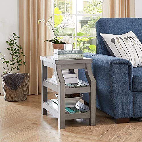 Naomi Home Gallaway Accent Side Table Gray Blues