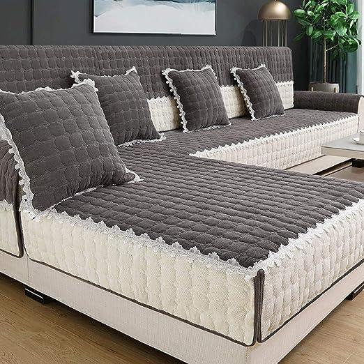 Ijxklouim - Funda de cojín para sofá, Gris, 90x240cm ...