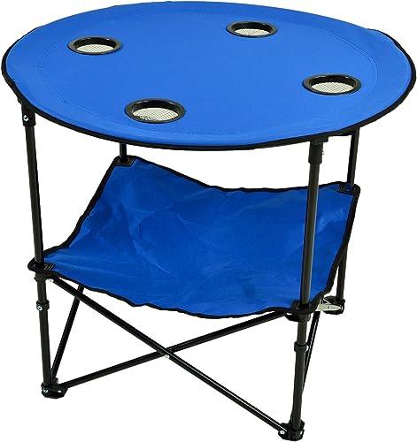 Picnic at Ascot Canvas Travel Folding Table, Royal Blue