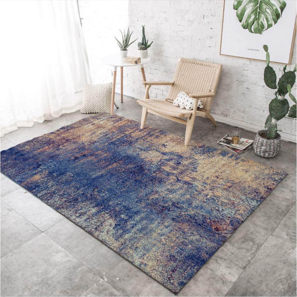 Modren Living Room Area Rugs,not-Skid Indoor Outdoor Abstract Area Rugs Floor Carpets Large Area Rugs-i 100x160cm(39x63inch)