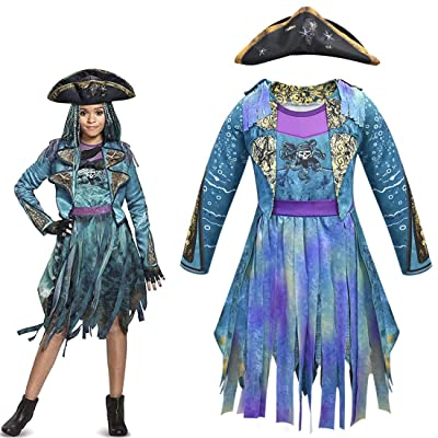 Heariao Halloween Christmas Uma Descendants 3 Cosplay Costumes for Girls Dress Performance Costume: Clothing