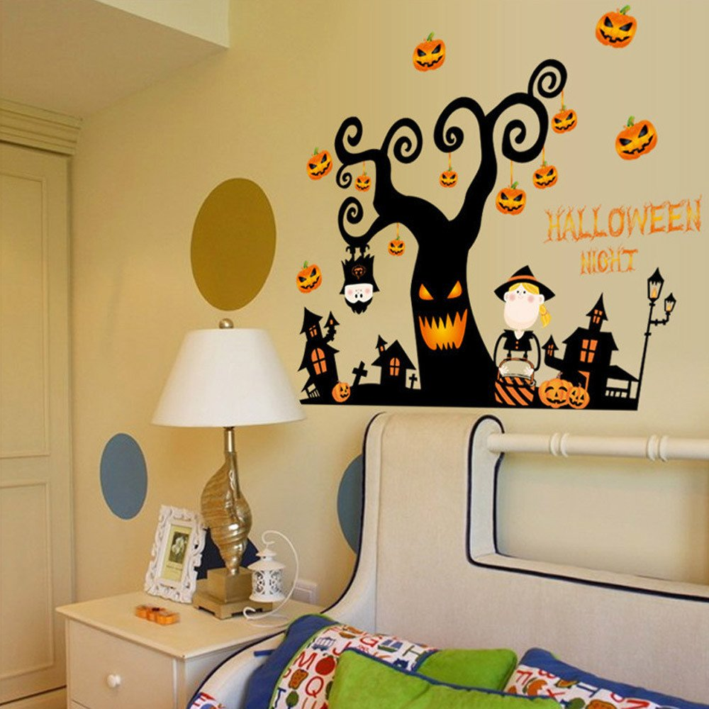 Amazon.com : Rumas Happy Halloween DIY Wall Stickers for Kids Room ...