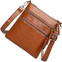 KESYOO Leather Shoulder Bag Womens Side Bags Crossbody Handbag with Zipper Pocket