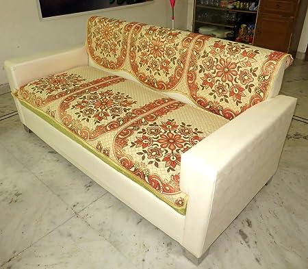 Vivek Homesaaz 5 Seater Polycotton Sofa Cover Set,10 Piece