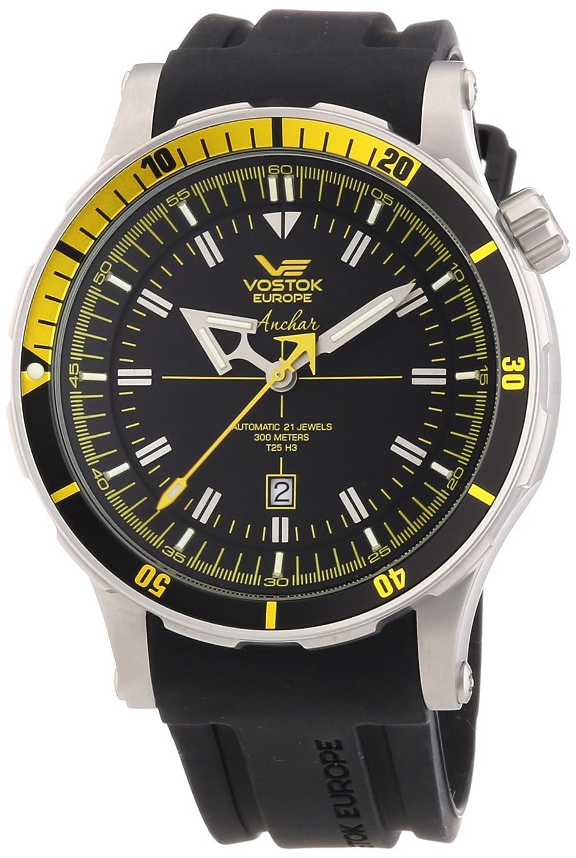 Vostok Herren-Armbanduhr XL Analog Automatik Leder 09VS001