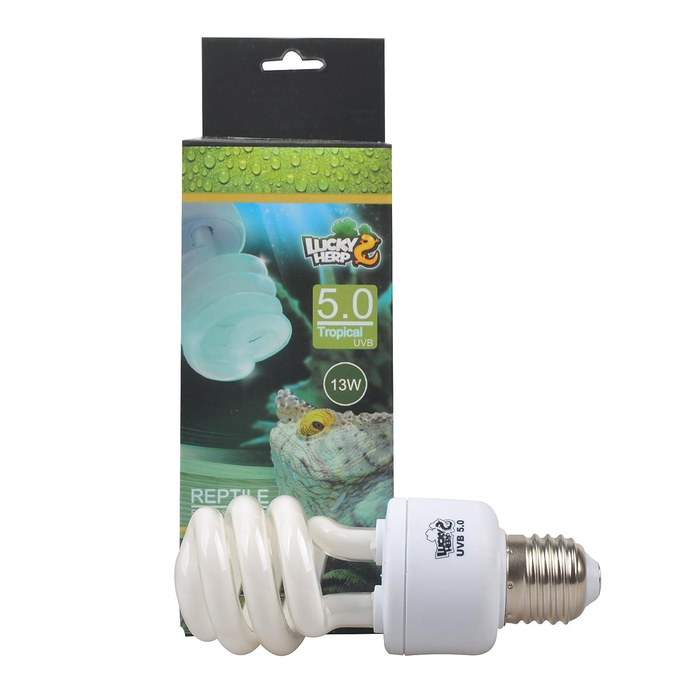 Lampadina compatta e fluorescente per rettili, 5.0 UVA, UVB, da 13W da 13W Jinxu