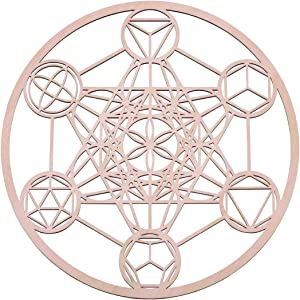 Platonic Solids Metatron Cube, 12 Inch Wall Art | Modern Sacred Geometry with Positive Energy Symbolizes Balance & Harmony | Wall Décor for Living Room, Bedroom, Office, Business, and Home