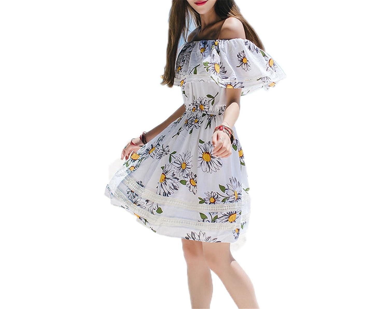 Amazon.com: Twilaisaac Fashion beach dress verão plissadas vestidos mulheres casual manga curta boho imprimir mini dress: Clothing