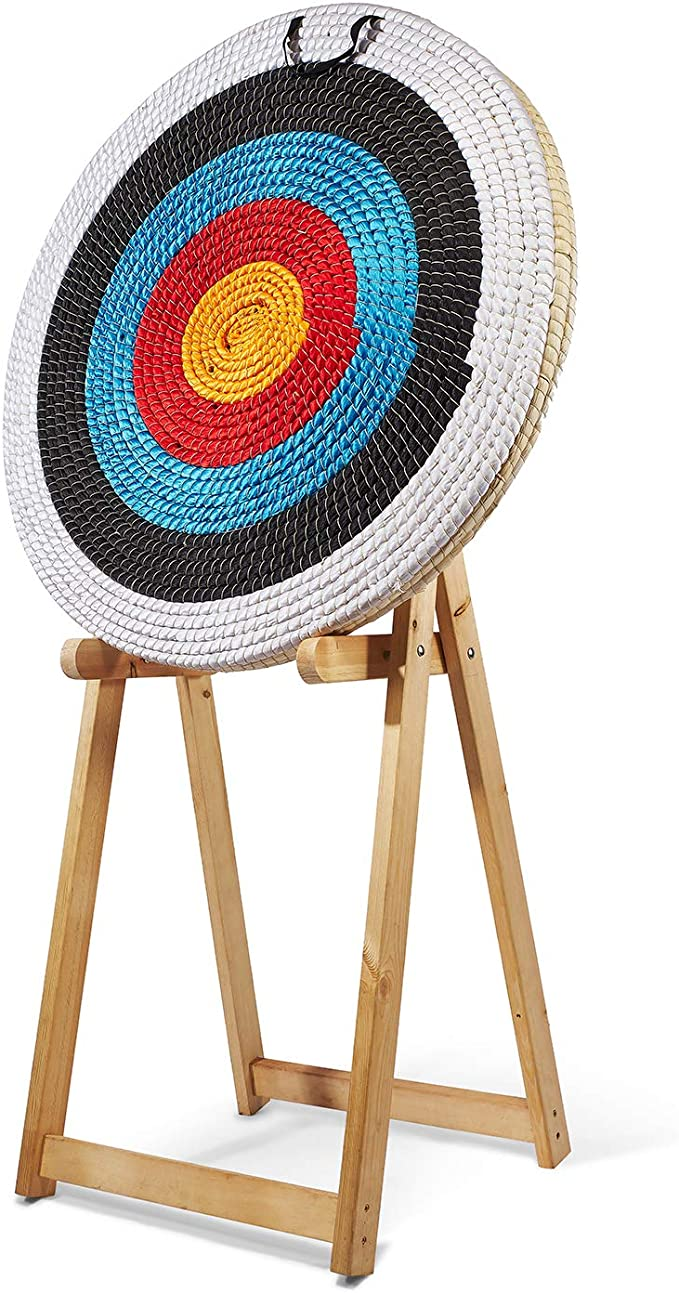 Target archery straw ø 80 cm thickness 12 cm thick painted
