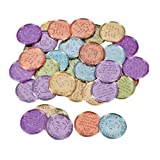 Fun Express Kindness Coins (Bulk Set of 144 Plastic Pieces) Play Coins for Kids