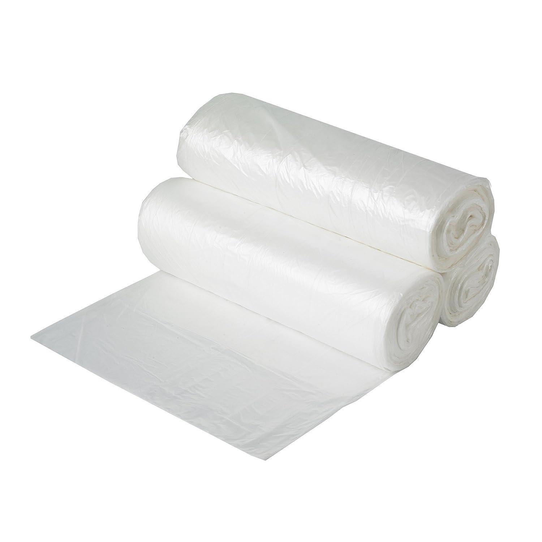 Aluf Plastics HCR-243306C 高密度スターシール コアレスロールバッグ 13ガロン ポリエチレン 24インチ x 33インチ クリア 1000個パック 24