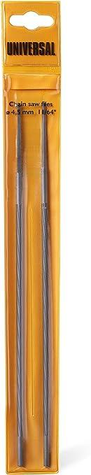 Universal GM577615703 Limas X 2 Redondas FLO003,para Motosierra 2040 1935 S/CSE 1835/CS 50S, Afilado preciso, diam 4,5 mm, Accesorios McCulloch, Standard