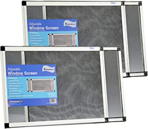 """Fenestrelle Expandable Window Screen, 2 Way Adjustable, Horizontal (15""""h x 21-40""""w) or Convert to Vertical (21""""h x 15-28""""w), 2 Pack of Medium Screens"""