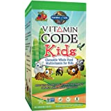 Garden of Life Vegetarian Multivitamin Supplement for Kids - Vitamin Code Kids Chewable Raw Whole Food Vitamin with Probiotics, 60 Chewable Bears