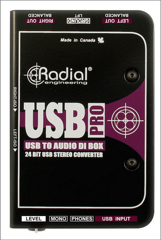 Radial USB-PRO - El ordenador portátil estéreo USB caja de ...