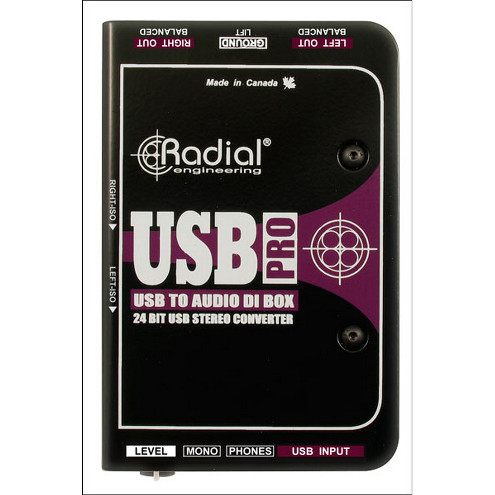Radial USB-PRO | Stereo USB Laptop Direct Injection Box