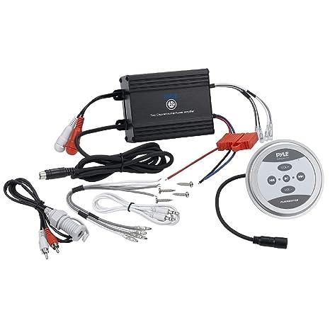 Pyle plmrmbt7s Marine Grade 1200 W amplificador Bluetooth ...