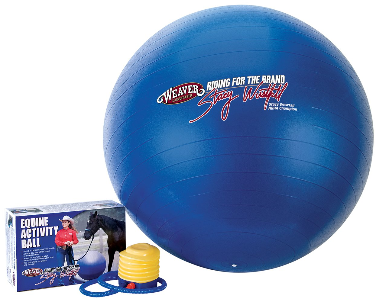 Weaver Leather Stacy Westfall Activity Ball, Medium, Blue by Weaver Leather