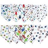 Labebe Baby Bandana Bibs Drool / Bury Bibs Unisex 10-Pack Multicolor, 102% coton, Newborn Baby Shower Gift pour dentier et bave, doux et absorbant, lavable en machine et preuve de taches - Unisex D