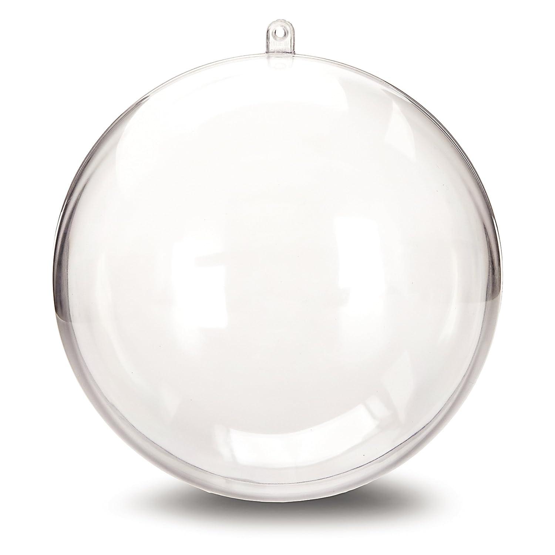 Amazon.com: Darice 1105-89 Plastic Ball Ornament, 140mm, Clear: Home u0026  Kitchen