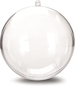 related image of             Darice 1105-89 Plastic Ball Ornament, 140mm