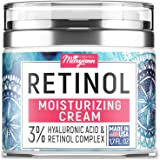Anti Aging Retinol Moisturizer Cream for Face - Natural and Organic Night Cream - Made in USA - Wrinkle Cream for Women…