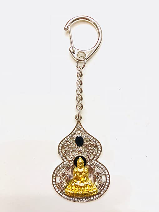 Feng Shui medicina Buda con Wu Lou Luo llavero amuleto EE ...