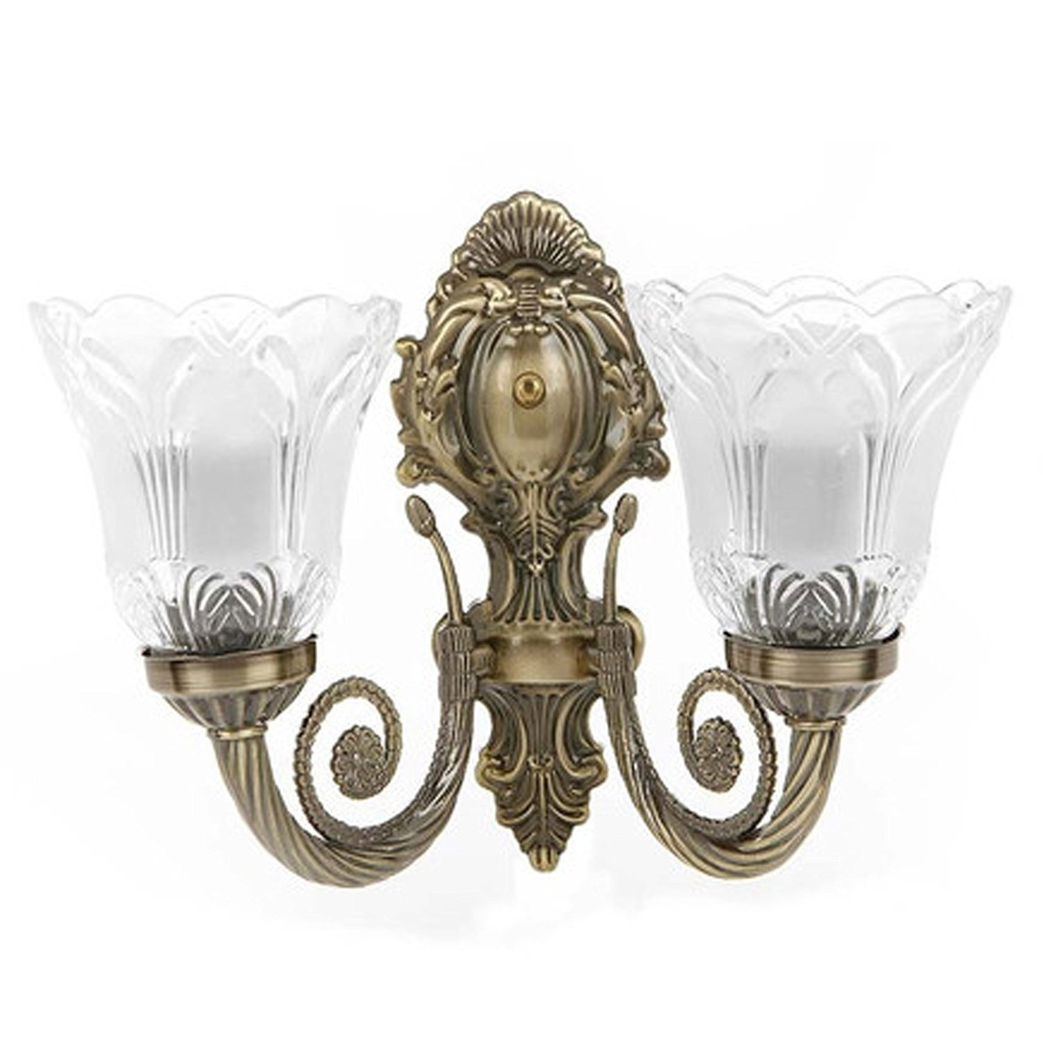 Rck products imported antique double wall lightwall hanging double lamp in antique design