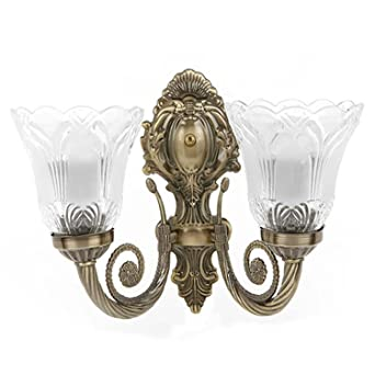 Rck products imported antique double wall lightwall hanging double rck products imported antique double wall lightwall hanging double lamp in antique design amazon home kitchen aloadofball Choice Image