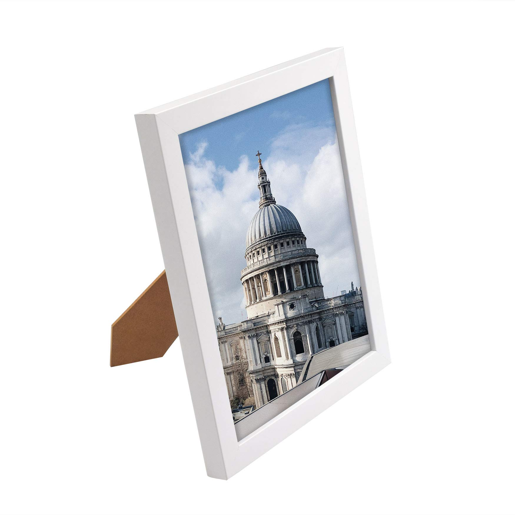 Golden State Art, White Photo Wood Collage Frame with Real Glass (8x10) by Golden State Art (Image #3)