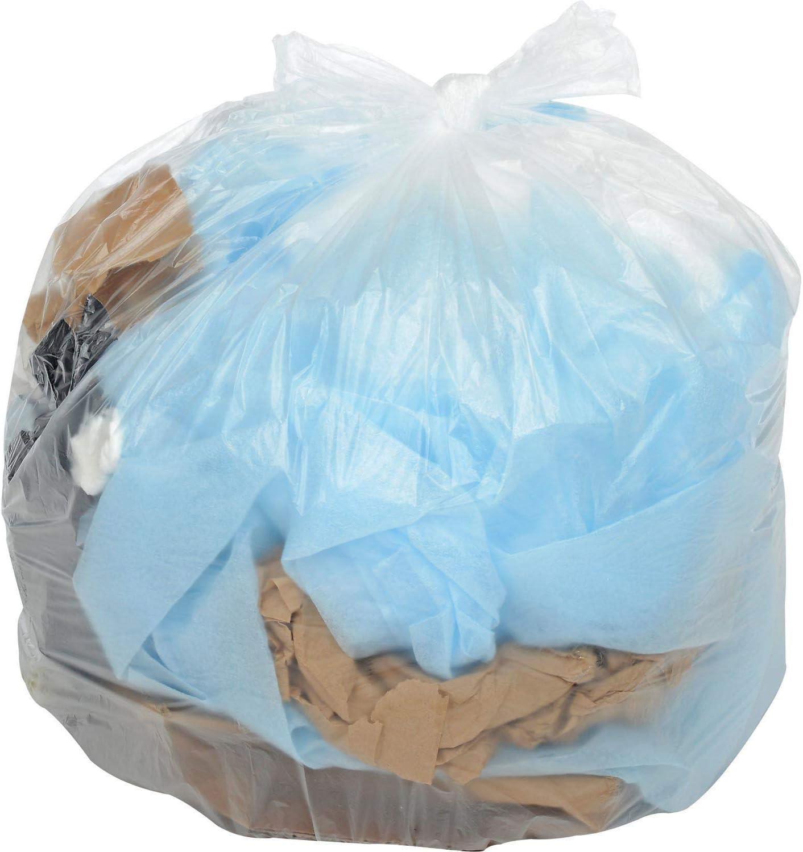 200 Bags//Case 45-55 Gallon Light Duty Natural Trash Bags 0.47 Mil