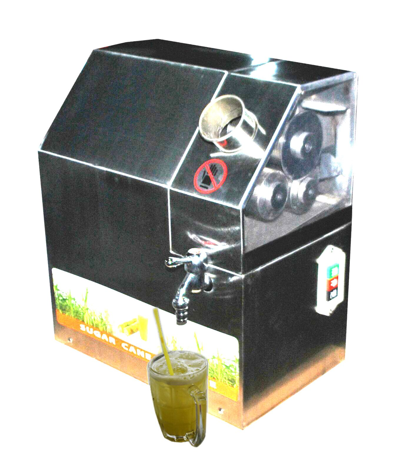110V Automatic Commercial Sugarcane Juicer Sugar Cane Grind Press Machine Stainless Steel