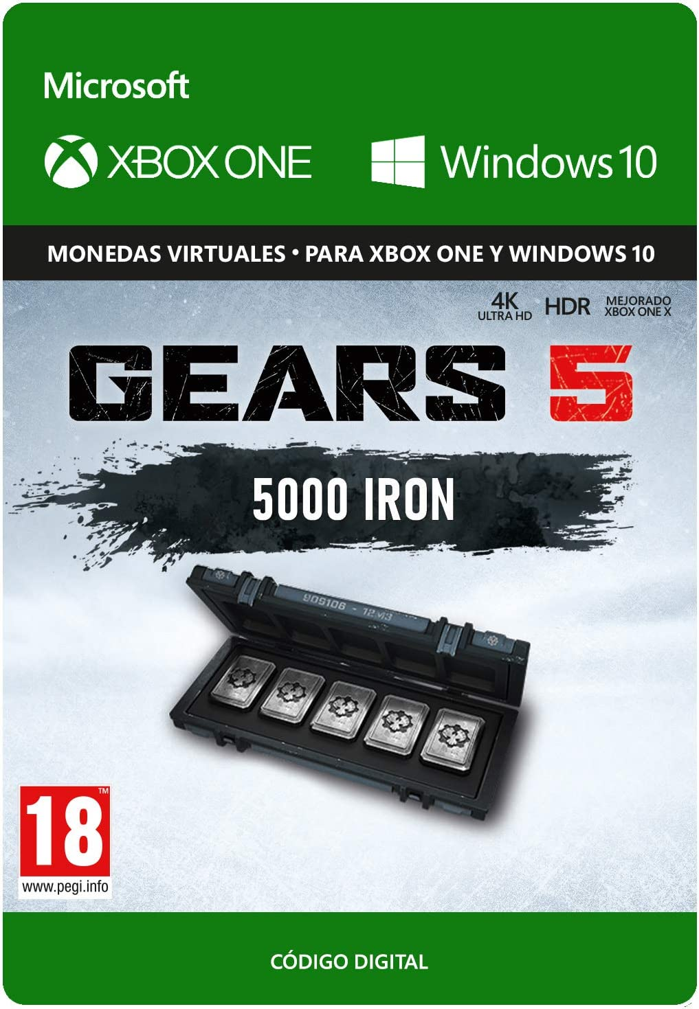Gears of War 5: 6,000 Iron - Xbox One - Código de descarga: Amazon.es: Videojuegos