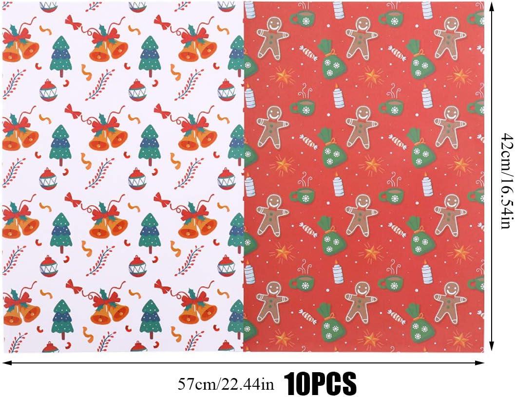 Papel de Envolver Colorido Papel de Regalo de Papel de Regalo Lindo Papel de Regalo para Cumplea/ñOs Navidad Hojas de Papel para Envolver Regalos Bodas Con