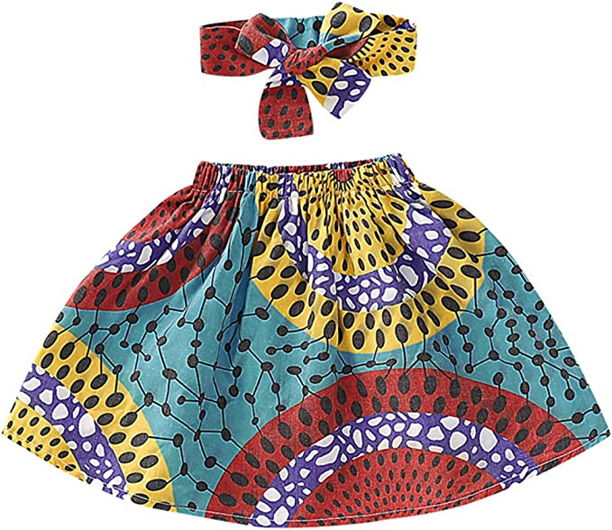 Kids Girls Dashiki Dresses