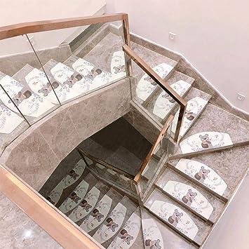 ACZZ Almohadilla para escalera Escalera Pisada Alfombrillas antideslizantes para piso Alfombras autoadhesivas Peldaños Alfombrillas protectoras para bebés/ancianos/mascotas Alfombras para escaler: Amazon.es: Bricolaje y herramientas