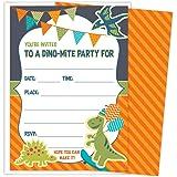Amazon Com Koko Paper Co Dinosaur Party Invitations Fill In Style