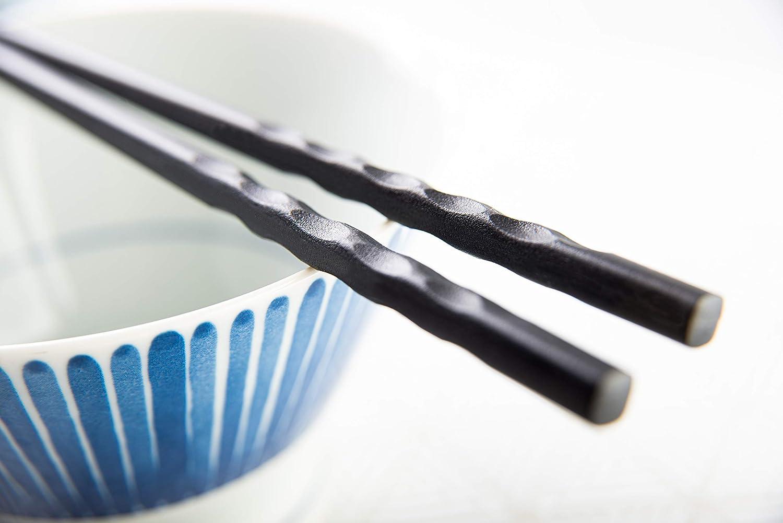 Wave Mintrico Reusable Chopsticks Luxury Japanese Style 5 Pair Set Dishwasher Safe